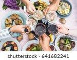 food table healthy delicious... | Shutterstock . vector #641682241