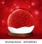 christmas snow globe with...