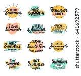 typographic summer design set   ... | Shutterstock .eps vector #641692579