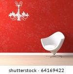 interior design scene with a... | Shutterstock . vector #64169422