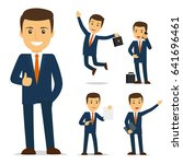 businessman cartoon character... | Shutterstock . vector #641696461