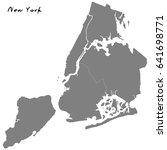high quality map of new york... | Shutterstock .eps vector #641698771