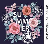 summer background withr ... | Shutterstock .eps vector #641700535