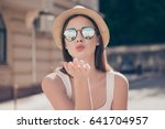 kiss for you  happy carefree... | Shutterstock . vector #641704957
