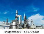 oil and gas industry refinery... | Shutterstock . vector #641705335