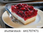 cheesecake with fresh... | Shutterstock . vector #641707471