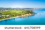 aerial view on auckland city... | Shutterstock . vector #641708599