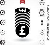 money pound icon or flat sign....