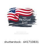 memorial day. remember and... | Shutterstock .eps vector #641710831