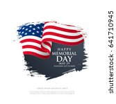 memorial day. remember and... | Shutterstock .eps vector #641710945