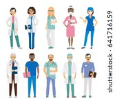 hospital medical team. medical... | Shutterstock . vector #641716159