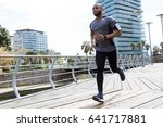 portrait of fit and sporty...   Shutterstock . vector #641717881