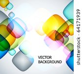 abstract vector background. | Shutterstock .eps vector #64171939