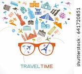 travel and tourism background.... | Shutterstock .eps vector #641720851