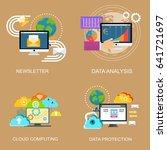 set of concept for data... | Shutterstock .eps vector #641721697