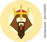 bearded king with a crown on...   Shutterstock .eps vector #641724205