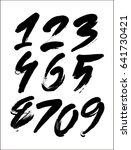 vector set of calligraphic... | Shutterstock .eps vector #641730421