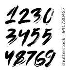 vector set of calligraphic... | Shutterstock .eps vector #641730427