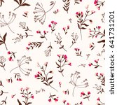 seamless cute floral vector... | Shutterstock .eps vector #641731201