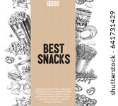 vector hand drawn snack and... | Shutterstock .eps vector #641731429