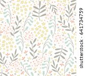 vector seamless pattern with... | Shutterstock .eps vector #641734759