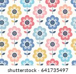 seamless floral pattern | Shutterstock .eps vector #641735497