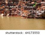 old brick wall flood | Shutterstock . vector #64173553