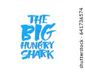 the bid hungry shark.hand... | Shutterstock .eps vector #641736574