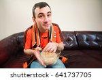 man watching football  football ... | Shutterstock . vector #641737705
