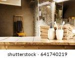 bathroom interior background... | Shutterstock . vector #641740219