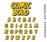 comic style font. vector... | Shutterstock .eps vector #641742505
