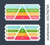 pyramid chart with four speps... | Shutterstock .eps vector #641746765