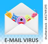 email envelope open and... | Shutterstock .eps vector #641749195