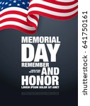 memorial day. remember and... | Shutterstock .eps vector #641750161