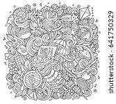 cartoon cute doodles hand drawn ... | Shutterstock .eps vector #641750329