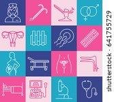 vector gynecology symbols icon... | Shutterstock .eps vector #641755729