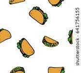 cartoon seamless vector taco... | Shutterstock .eps vector #641756155
