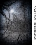 grunge image of dark forest ... | Shutterstock . vector #64175977