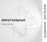 eps10. 3d geometric vector... | Shutterstock .eps vector #641761969