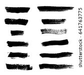 big vector set of grunge brush... | Shutterstock .eps vector #641763775