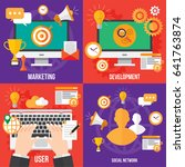 seo. search engine optimation.... | Shutterstock .eps vector #641763874