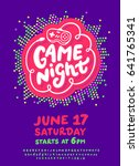 game night. poster template. | Shutterstock .eps vector #641765341