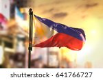 philippines flag against city... | Shutterstock . vector #641766727