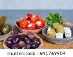 mediterranean appetizer... | Shutterstock . vector #641769904