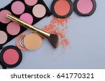 collection of make up and... | Shutterstock . vector #641770321