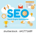 seo. search engine optimation.... | Shutterstock .eps vector #641771689