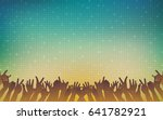 silhouette of people raise hand ... | Shutterstock .eps vector #641782921