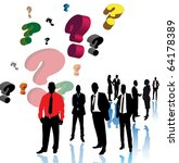 business people and questions | Shutterstock .eps vector #64178389
