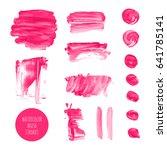 pink  rose  magenta vector... | Shutterstock .eps vector #641785141