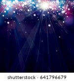 vector colorful  lights... | Shutterstock .eps vector #641796679